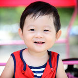 Leuk Chinees jongensportret royalty-vrije stock foto