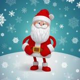 Leuk 3d Santa Claus-beeldverhaalkarakter royalty-vrije illustratie