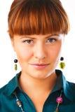 Leuk de vrouwenportret van de Roodharige Royalty-vrije Stock Afbeelding