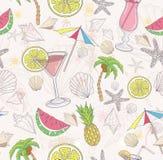 Leuk de zomer abstract patroon Stock Afbeeldingen
