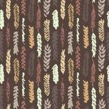 Leuk decoratief naadloos patroon met graangewassen vector illustratie
