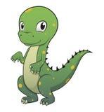 Leuk dinosaurus vectorkarakter Stock Foto