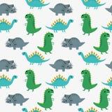 Leuk dinosaurussen naadloos patroon vector illustratie