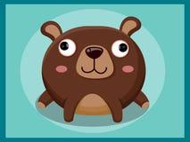 leuk draag beeldverhaal Grappig beeldverhaal en vector dierlijke karakters Stock Fotografie