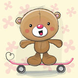 Leuk draag met skateboard royalty-vrije illustratie