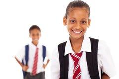 Leuk elementair schoolmeisje stock fotografie