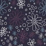 Leuk en in bloemenpatroon met tulpen, papaverbloemen en bessen Stock Afbeeldingen