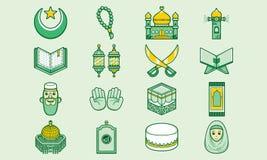 Leuk en grappig Islamitisch pictogram Royalty-vrije Stock Fotografie