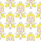 Leuk engelen naadloos patroon vector illustratie