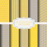leuk geel patroon Stock Afbeelding