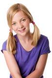 Leuk gelukkig tienermeisje Stock Afbeelding