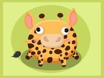 Leuk girafbeeldverhaal Grappig beeldverhaal en vector dierlijke karakters Stock Foto