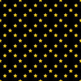 Leuk gouden sterrenornament op zwarte achtergrond Stock Foto