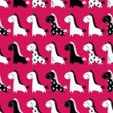 Leuk grappig naadloos patroon met paarden Vectorachtergrond met Royalty-vrije Stock Fotografie