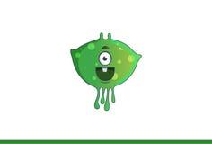 Leuk groen Gelukkig monster Royalty-vrije Stock Afbeelding