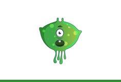 Leuk groen geschokt monster Royalty-vrije Stock Foto's