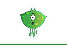 Leuk groen geschokt monster Stock Afbeelding