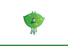 Leuk groen monster Smirking Stock Afbeelding