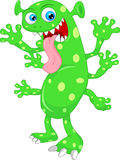 Leuk groen monsterbeeldverhaal Stock Foto