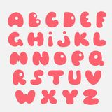Leuk hand getrokken alfabet Vector grappige strippagina font‹ Royalty-vrije Stock Afbeeldingen