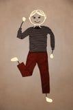 Leuk hand getrokken karakter in vrijetijdskleding Stock Foto