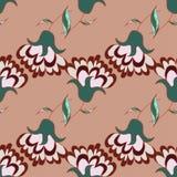 Leuk hand getrokken patroon met bloemen Royalty-vrije Stock Fotografie