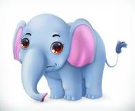 Leuk het beeldverhaalkarakter van de babyolifant Grappig dieren vectorpictogram Royalty-vrije Stock Afbeelding