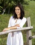 Leuk het meisjesportret van het platteland Royalty-vrije Stock Afbeeldingen