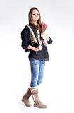 Leuk jong studentenmeisje. Stock Afbeeldingen