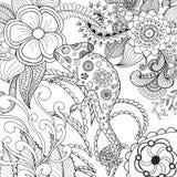Leuk kameleon in fantasiebloemen Royalty-vrije Stock Afbeelding