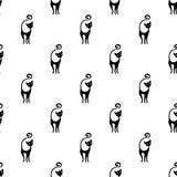 Leuk katten vector naadloos patroon Royalty-vrije Illustratie