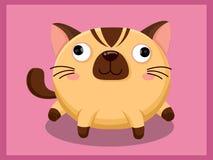 Leuk kattenbeeldverhaal Grappig beeldverhaal en vector dierlijke karakters Stock Fotografie