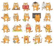 Leuk kattenkarakter Stock Foto's