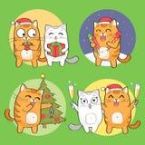 Leuk kattenkarakter Stock Afbeeldingen