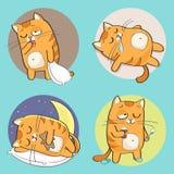 Leuk kattenkarakter Royalty-vrije Stock Foto