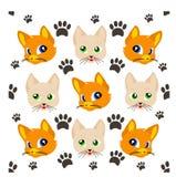 Leuk kattenpatroon Stock Afbeeldingen