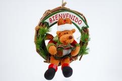 Leuk Kerstmisornament op witte achtergrond Royalty-vrije Stock Afbeeldingen