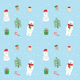 Leuk Kerstmispatroon Royalty-vrije Stock Foto