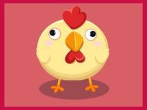 Leuk kippenbeeldverhaal Grappig beeldverhaal en vector dierlijke karakters Stock Afbeeldingen