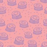 Leuk koekjes naadloos patroon Stock Fotografie