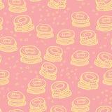 Leuk koekjes naadloos patroon Stock Afbeeldingen