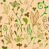 Leuk krabbel bloemen naadloos patroon vector illustratie