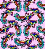Leuk krabbel bloemen naadloos patroon royalty-vrije illustratie
