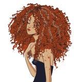 Leuk krullend meisje vector illustratie