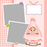 Leuk malplaatje voor de kaart van de baby Stock Foto