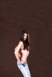 Leuk Meisje in bovenkant van bikini Royalty-vrije Stock Foto's