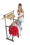 Leuk meisje dat haar kleren verandert Stock Foto