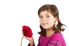 Leuk meisje met bloem Royalty-vrije Stock Afbeelding