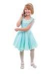 Leuk Meisje met een Telefoon. Royalty-vrije Stock Foto's