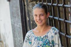 Leuk meisje in Praag Stock Afbeeldingen